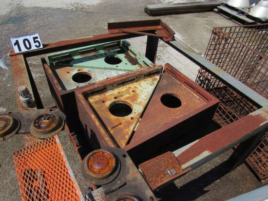 """slotted cast iron angle plates for machining23"""" X 32"""" X 7 1/2"""" thick"""