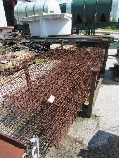 heavy duty wire shelves 10' x 2'