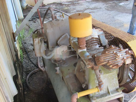 15hp Worthington horizontal twin cylinder cast iron compressor
