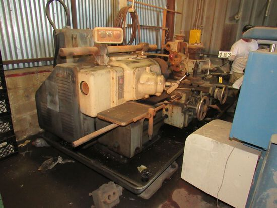 """Universal 7A turret lathe with 12"""" three jaw chuck 3"""" feed hole"""