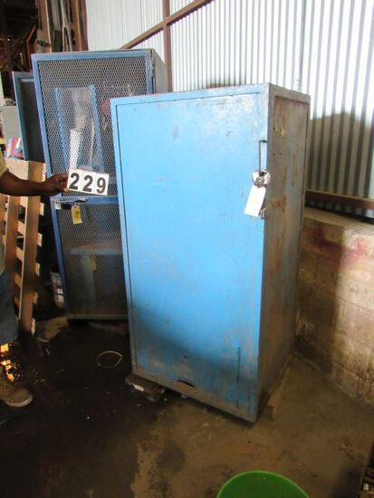 "heavy duty steel storage cabinet 30"" w x 24""d x59"" h"
