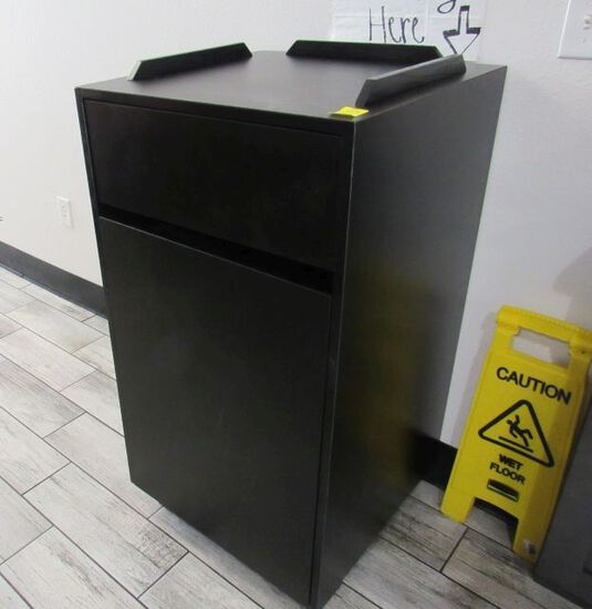 "Formica self service trash bins 24"" x 24"" x 44"""