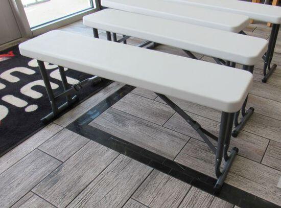 "folding benches  37"" L"
