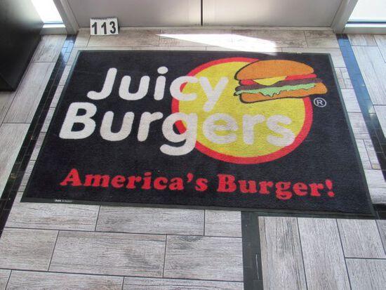 "Juicy Burger entrance door mat 67"" x 42"""