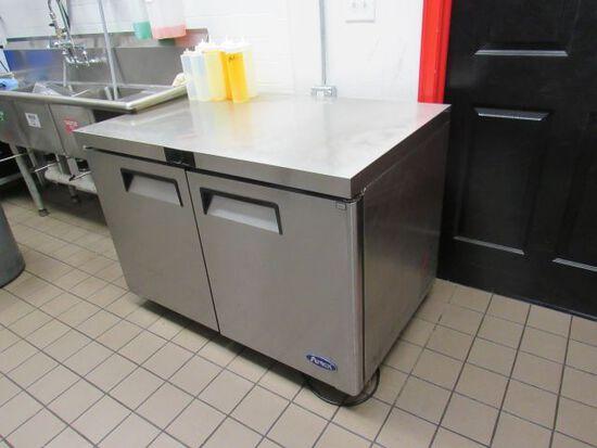 "Atosa under counter refrigerator 48"" W x 28"" D x 34"" H"