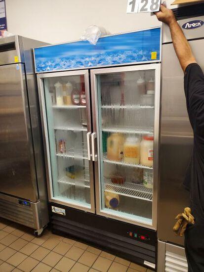"""Vantco double glass door reach in refrigerator 48"""" W x 26"""" D x 80"""" H"""