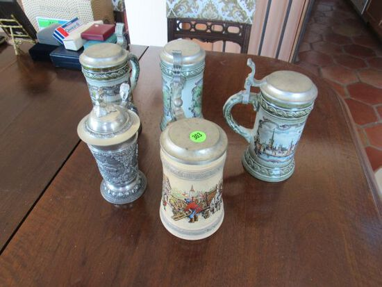 European steins mixed mfg