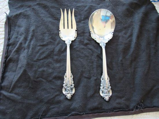 sterling silver spoon and fork set