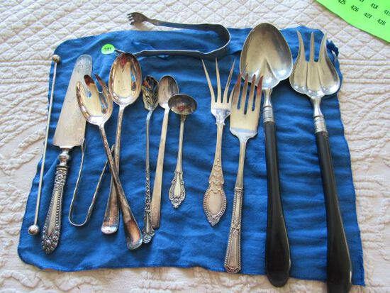 mix lot of silver plate serving pieces