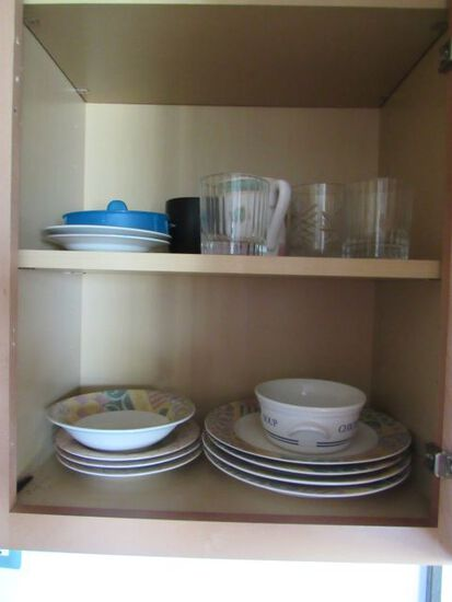 assorted everyday dishes and flatware, utensils