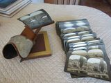 antique slide viewer with slides from Serbia