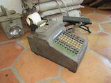 antique manual keypunch adding machine