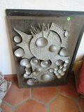 framed metal wall art abstract, 22 X 30