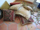 group of mixed throw pillows