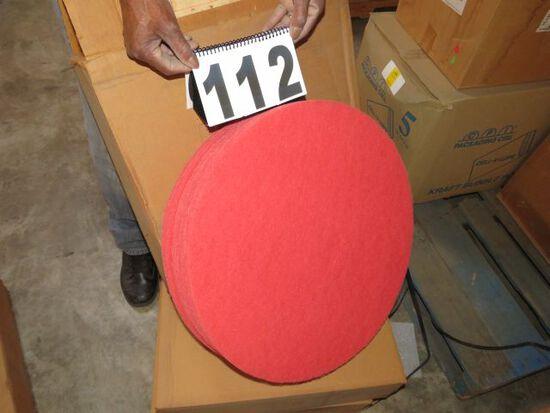 "case red polishing pads 20"" diameter buffer 5 per case"