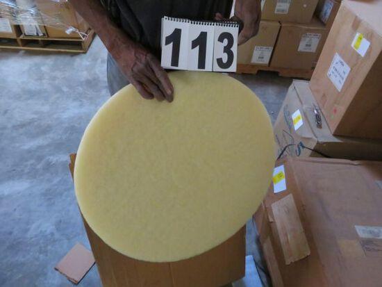 """22"""" white polishing pad case of 5"""