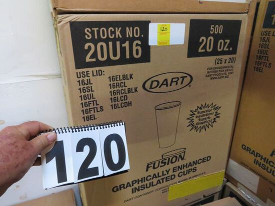 case 20oz insulated cup by Dart 500 ct per case