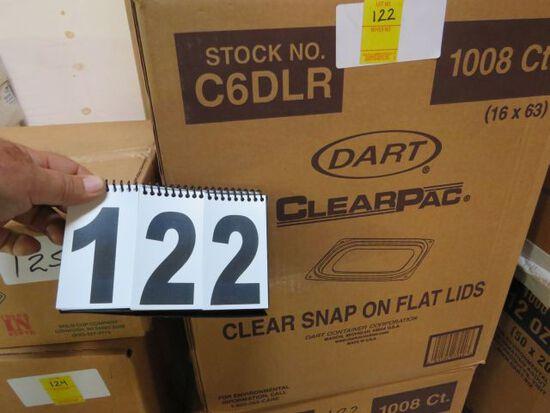 clear snap on flat lids by Dart 1000 per case