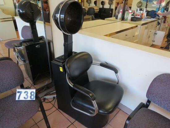 pair Belvediere Model 810 hair dryers  (one needs service for a loud fan motor)