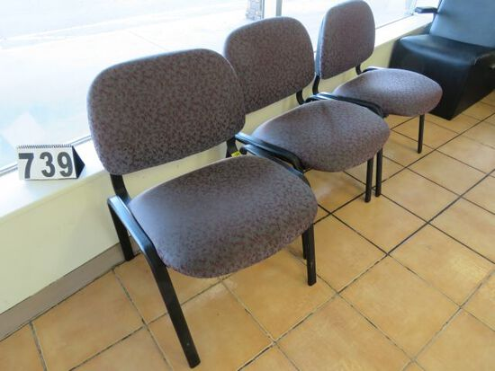 upholstered waiting room chairs