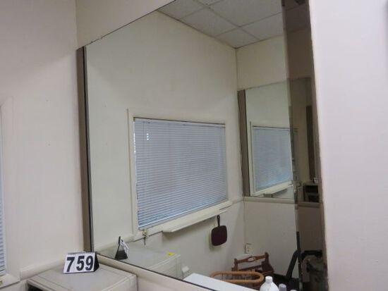 "wall mounted mirrors 58"" x 54"""