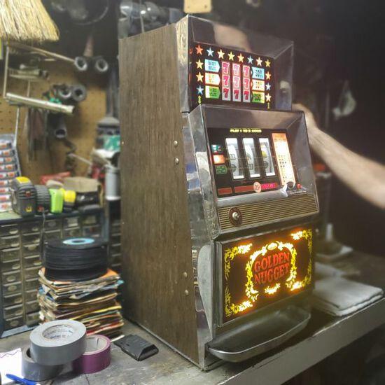 Vintage quarter Slot Machine from Golden Nugget Casino