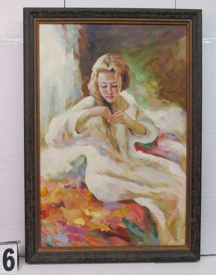 """Framed Oil  Meditation  40"""" x 28 1/4"""""""
