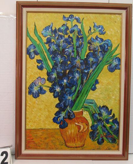 """Framed Blue Iris  39 1/2"""" x 29 3/4"""""""