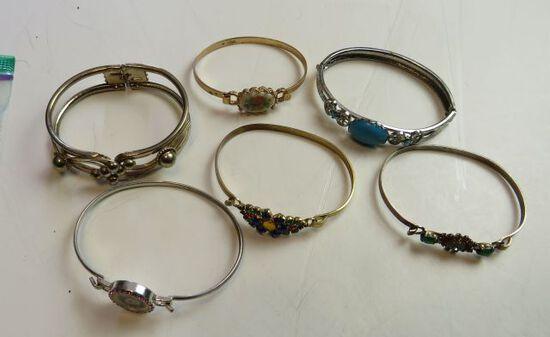 group of 6 mixed bracelets