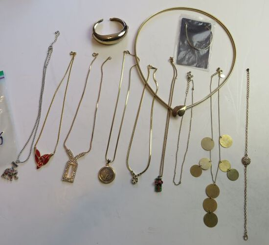 2 bracelets, 1 belt, 9 necklaces
