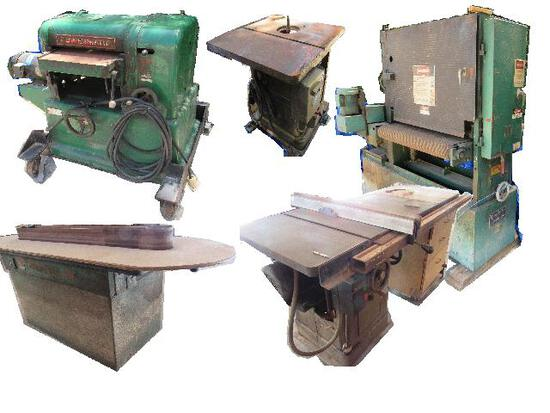 Cabinet Shop Equipment - Insurance Salvage