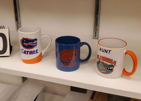 mixed Florida Gator coffee mugs