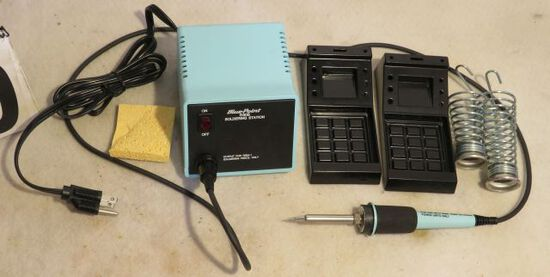 soldering system with safety rests