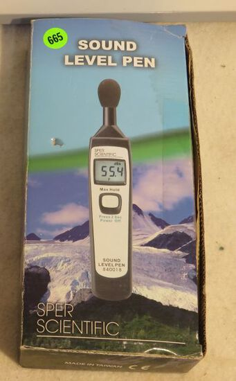 Sper Scientific Sound Level en new in box 840018