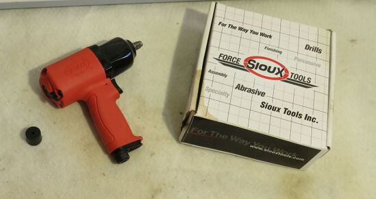 """Sioux pneumatic 3/8"""" wrench with carry bag"""