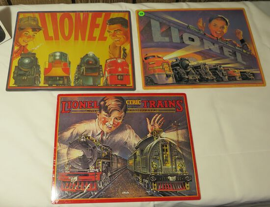 New Lionel Metal Signs from Hallmark 11 x 14