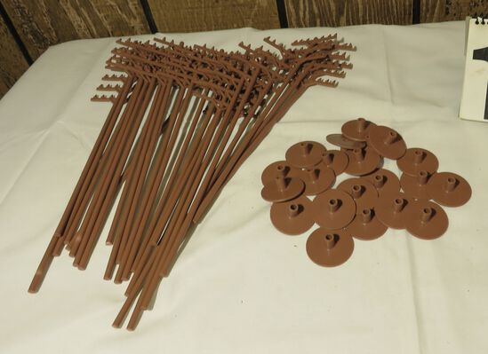 group of 21 Telephone Poles for Railroad Model