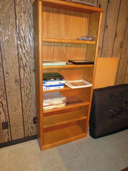 Simulated Oak Book Case 30 W x 72 H  x 10 D