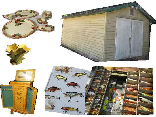 Estate Fishing Tackle, Collectibles, Furniture.