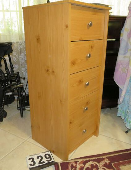 """5 drawer lingere chest 16.5""""w  39.5 h x 16"""" deep"""