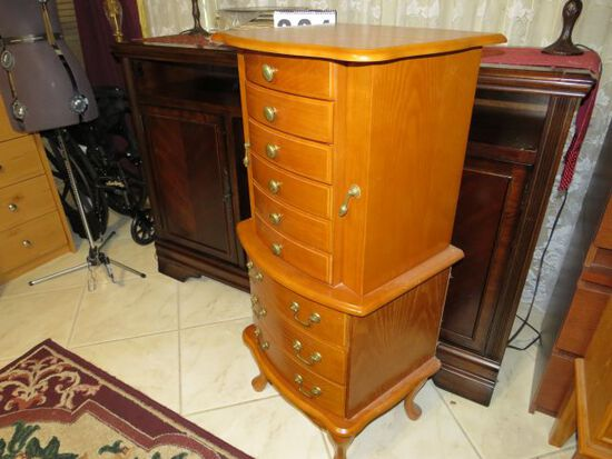 9 drawer jewelry chest and two side drawers