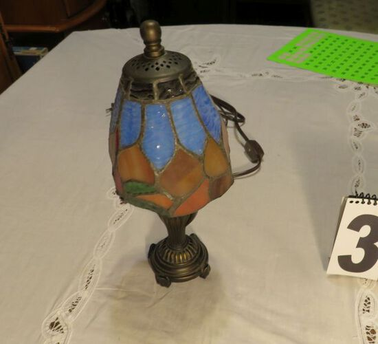 """tifany style lamp 12"""" high"""