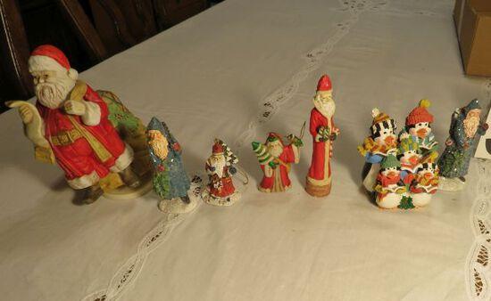 group of 7 Christmas figures