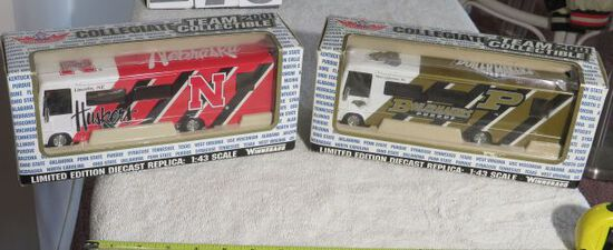 decorative team busses in boxes