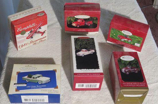 collectible car Christmas ornaments