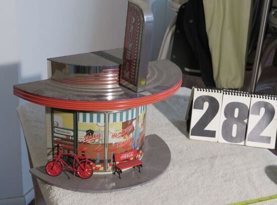 decorative drive-in restaurant, battery operated