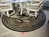 6' diameter rug