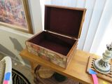 decorated wood trinket box