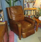 brown leather recliner great condition