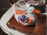 ceramic duck cookie jar